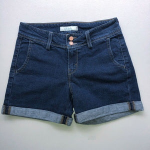 LEVIS 545 Denim Cuffed Shorts Womens Mid-High Rise